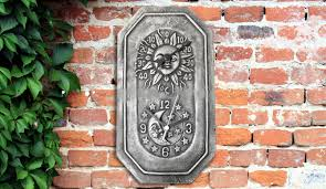 terracotta outdoor garden wall clock with thermometer 43 off