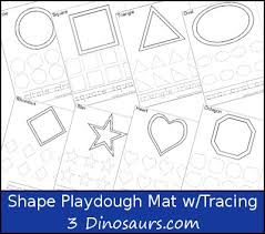 free printable shape playdough mats free shape playdough mat with tracing shape word shapes math