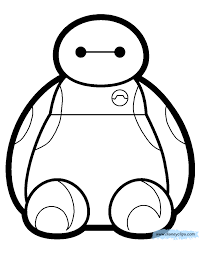 baymax coloring pages coloring home