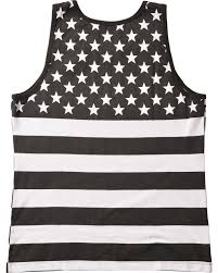 Black American Flag Shirt Cody James Men U0027s Black And White American Flag Tank Country