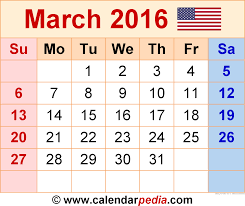 march 2016 calendar with holidays 2017 printable calendar
