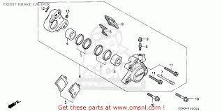 honda sfx honda sfx50 1995 s spain front brake caliper schematic partsfiche
