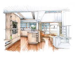 Sketch Interior Design A Kitchen Proposal For Schindler U0027s Lovell Beach House Sketches