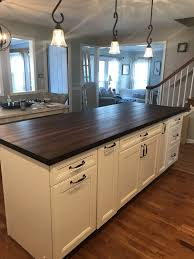 kitchen with white cabinets and wood countertops walnut butcher block with white cabinets kitchen remodel