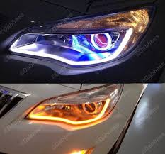led white amber switchback headlight led drl daytime light