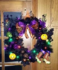 other halloween light up door wreath