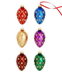 kurt adler set of 9 decorative egg ornaments for