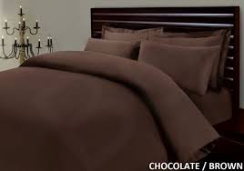 100 egyptian cotton 500 thread count chocolate brown duvet cover