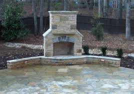 outdoor stone fireplace stacked stone fireplace company atlanta traditional exterior