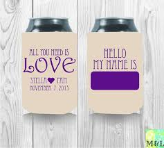 personalized wedding koozies 166 best wedding koozies images on wedding koozies