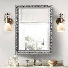 amazon com large rectangular bathroom mirror wall mounted wooden