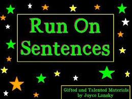 the 25 best run on sentences ideas on pinterest ela anchor