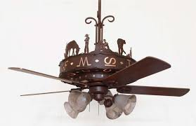 western ceiling fans with lights copper canyon western trails ceiling fan rustic lighting and fans
