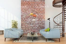 Living Room Setups by Living Room Setup Around A Brick Wall Stock Photo 488617704 Istock