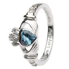 birthstone rings for birthstone silver claddagh ring ls sl90 12