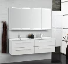 need a lot of storage choose a double mirror cabinet set with a