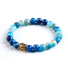 black bracelet women images Black lava stone buddha beads bracelets rope chain natural stone jpg