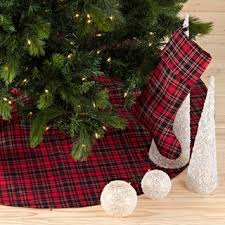 plaid tree skirt classic and black buffalo plaid tree skirt with sherpa trim