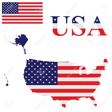 United States Outline Map by Flag Of The United States Of America Including Alaska And Hawaii