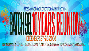 high school reunion banners my inner thoughts batch 98 high school reunion