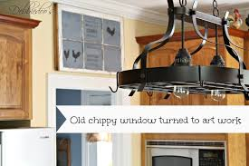 Upcycling Old Windows - how to make an old window into a chalkboard work of art debbiedoos