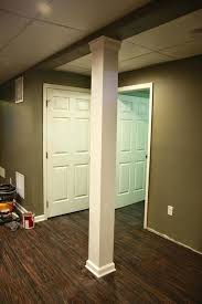 basement column wrap ideas the finished basement image gallery