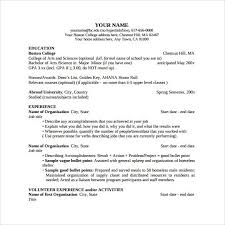 Resume Outline Examples by Boston College Resume Template Best Resume Collection