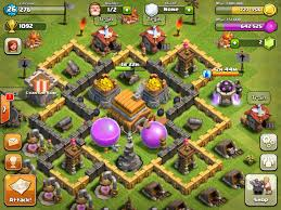 coc village layout level 5 clash of clans town hall level 5 base youtube