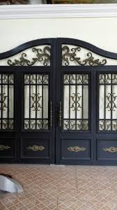 Custom design garden forged made wrought iron gates wrought iron