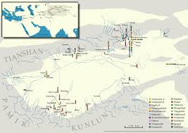Turkestan Map Turfan Studies U2014 Turfanforschung