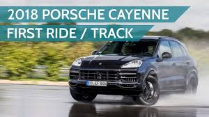 2018 porsche cayenne turbo first passenger ride on the track youtube