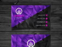 Purple Business Cards Purple Business Card Design Free Vectors Ui Download