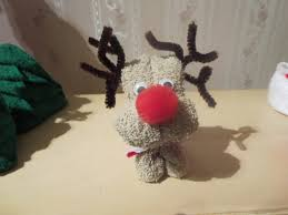 reindeer made with washcloth christmas craft pinterest craft