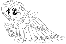 fluttershy coloring free printable coloring pages