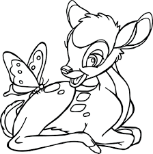 bambi and friends coloring pages free butterfly bambi and friends