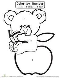 color number teddy bear teddy bear worksheets number