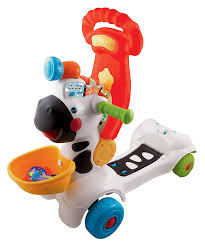 amazon com vtech 3 in 1 learning zebra scooter toys u0026 games