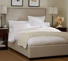 Padded Bed Headboard by Fillmore Square Upholstered Bed U0026 Headboard Pottery Barn King
