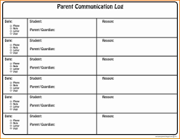 conference report template communication report template school counselor log parent