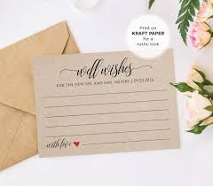 wedding wishes and advice well wishes printable wedding advice card template for newlyweds