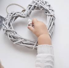aliexpress com buy wicker hanging heart in grey white wreath