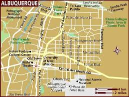 map usa lonely planet map of albuquerque