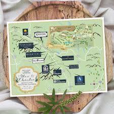 california map napa custom map napa valley map wedding map destination wedding