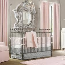 White Curtains Nursery by Bedroom Gorgeous Wrought Iron Crib Baby Furniture For Nursery