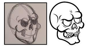 Halloween Skull Drawings Halloween Skull Illustration Lucky Dusa