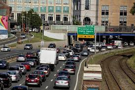mass pike exits map rosy predictions of traffic free boston were way the