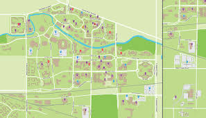 Armstrong Campus Map Msu Campus Map On The Banks Of The Red Cedar River Life At Msu