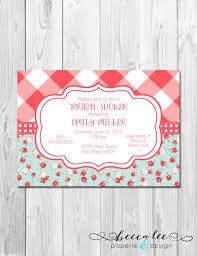 bridal shower invitations bridal shower invitations picnic theme