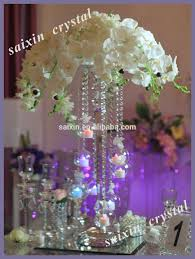 new design wedding crystal centerpiece with hanging votive candle