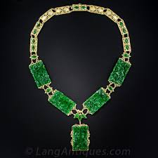 jade necklace images Natural burma jade carved panel necklace jpg